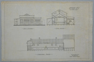 [W M Cullen Picture Hall, Wharf Street, Paeroa. Alterations and additions] Drawing No.2.
