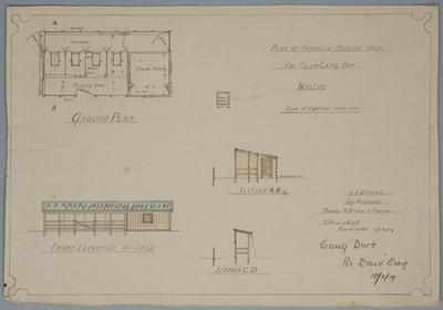 Plan of Proposed  Milking Shed for Messrs Craig Bros, Waitoa.