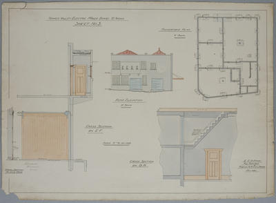Thames Valley Electric Power Board. Te Aroha. [Proposed Head Office]. Sheet No.3