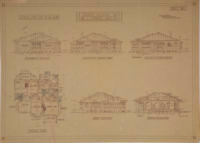 Proposed Residence for Mr C.J. Parlane, [Kitchener St,] Hamilton. Sheet No 1