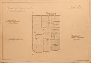 Thames Valley Electric Power Board. Head Office, Te Aroha. Sheet No.5. Amended Plan. First Floor.