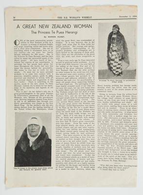 A Great New Zealand Woman: The Princess Te Puea Herangi