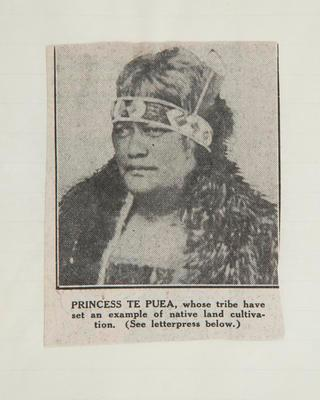 Newspaper clipping: Princess Te Puea