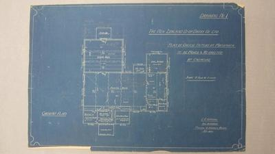 The New Zealand Co-op Dairy Co. Ltd. Plan of proposed Cheese Factory at Matamata to be moved and Re-Erected at Okoroire
