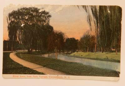 "Postcard- ""River Avon from Park Terrace, Christchurch, N.Z."""