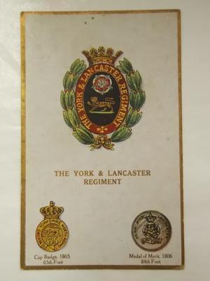Postcard – The York & Lancaster Regiment