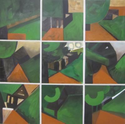 Fragments Building in Landscape - Glen Massey