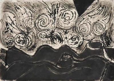 Storm Above the earth (Kiwis); Pat Hanly; 1963; 1970/125