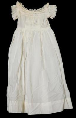 Infant's white gown by Mrs L Watt