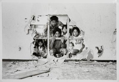 Children Playing in Abandoned House: Rotowaro