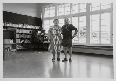 Nan Gracie and J. Spence at Rotowaro School