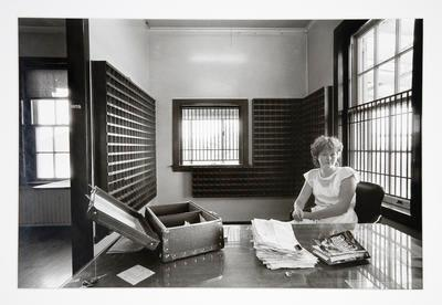 Pay Clerk - Claire Tomelty - at the State Coal Mines Office: Rotowaro