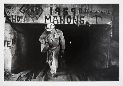 Mick Wilson Walking Out of Mahons Mine: Rotowaro
