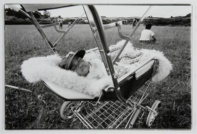 Baby Asleep in Stroller at Rotowaro Sportsground