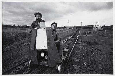 Two Men on Rail Jigger: Rotowaro