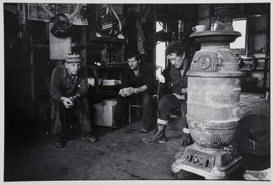 """Smoko"" at the Waikato Carbonization Works in Rotowaro"