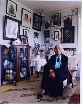 Nora Haumanuka Pikia at her home, Mokai Kainga, Kawhia (Ngati Apakura)