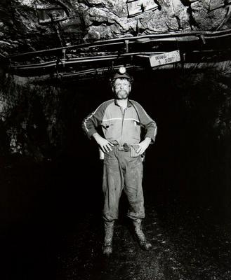 Neil Fowke, Coal Corporation geologist, in Huntly East Mine directly under the Waikato River bed