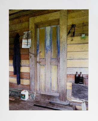 Blue and Yellow Door from Hiruhama Hall: Maungapohatu