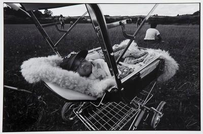 Baby Asleep in Stroller at Rotowaro Sportsground; David Cook; 1984; 1985/97/5.1