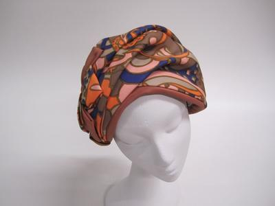 Women's turban hat; Miss Bain; Circa 1960s; 2006/53/1
