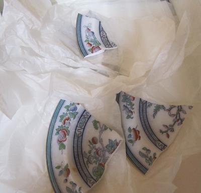 Plate, soup (broken parts)