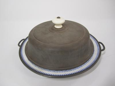Plate and lid, warming