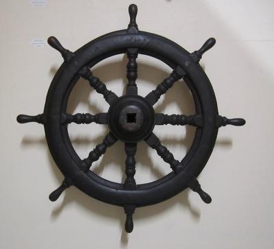 "Steering wheel, paddlesteamer ""Delta"""