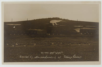 "Postcard photograph: ""Kiwi 600 ft x 335 ft"""