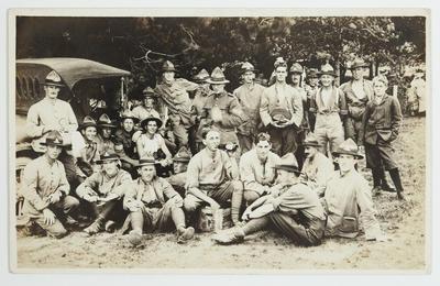 "Photograph: ""D Company Tauherenikau Camp?"""