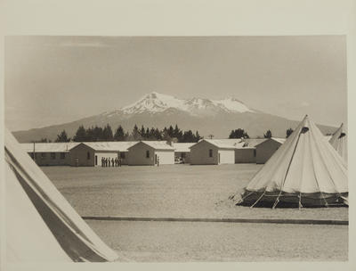 Photograph: After blizzard, Mount Ruapehu in background