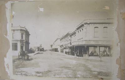 Photograph - Cuba Street, Wellington, 1890 - shows Empire Hotel