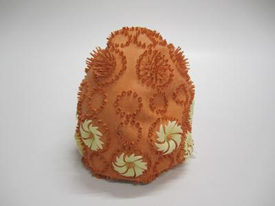 Women's orange bathing cap
