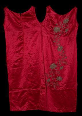 Evening Dress - Red Satin Evening Dress