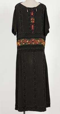 Dress - Heavy Black Silk Crepe Dress