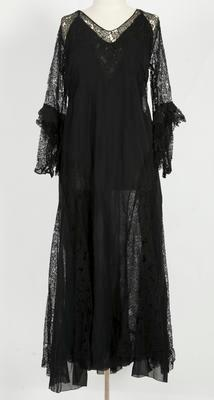 Dress – black silk and lace dress
