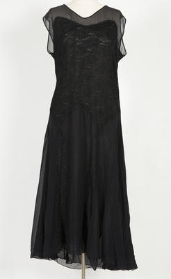 Dress - Silk Crepe Black Dress