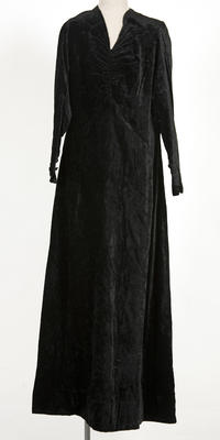 Dress - Black Velvet Dress