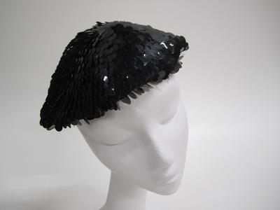 Black sequin beret