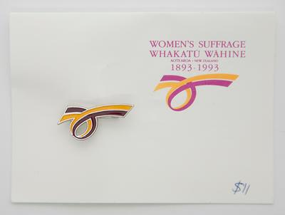 Badge – Women's Suffrage, 1893–1993