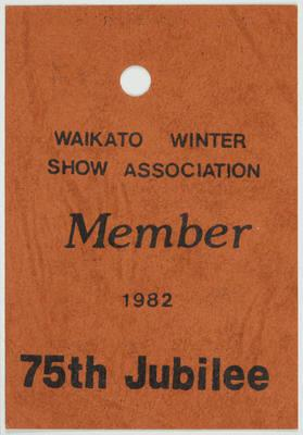 Admission Ticket - Member of Waikato Winter Show Association