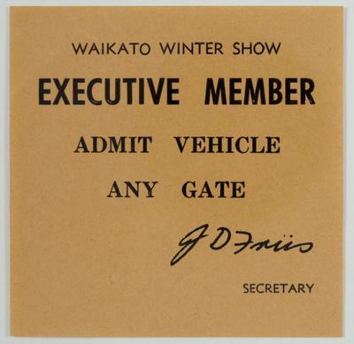 Pass - Executive Member