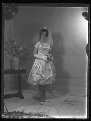 Glass plate negative – Bride (Curtis-Dunn wedding)