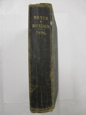 Book - Bryce v. Rusden  Court Hearing London 1886
