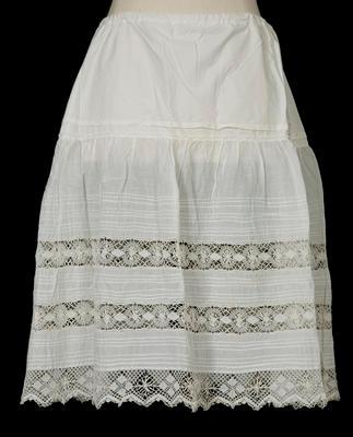 Petticoat -  White Crochet Petticoat
