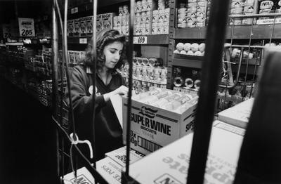 Sharon Hayden Restocks Supermarket Shelves