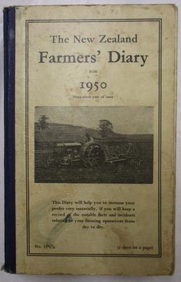Diary - Farming Diary 1950 - Douglas  Raethel