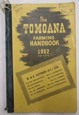 Diary - Farming Diary 1962 - Douglas Raethel