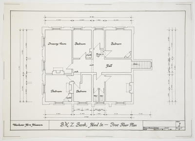 Architectural drawings - B.N.Z. Bank