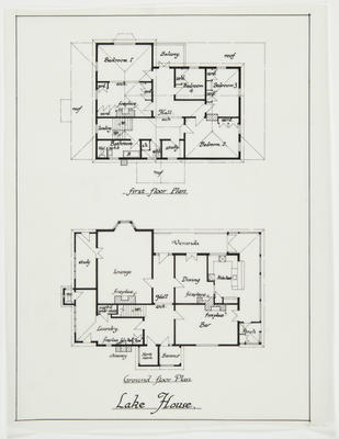 Architectural drawings - Lake House, Hamilton